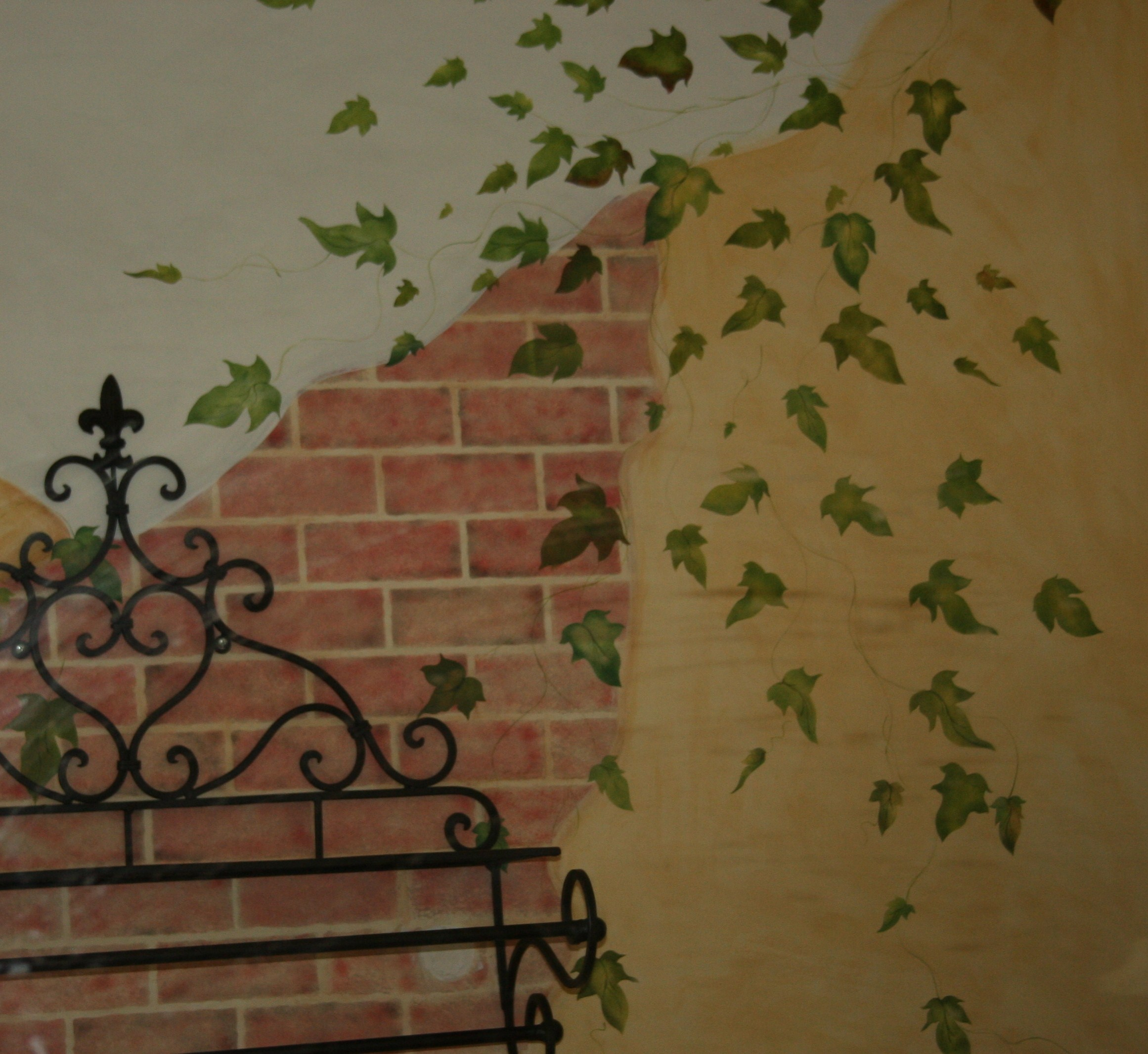 Faux Brick Wall Tempting Thyme