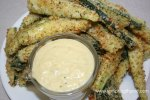 Zucchini Sticks with Carmelized Onion Dip