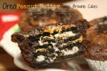 Tempting Thyme Oreo Peanut Butter Fudgy Brownie Cakes